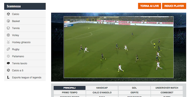 Calcio Live Streaming Gratis Italiano